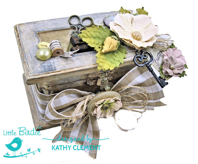Altered Button Box by Kathy Clement for Little Birdie Crafts Photo 01