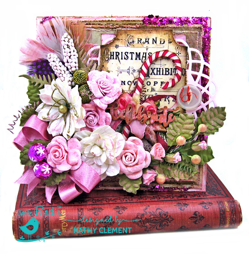 Pretty in Pink Christmas Card by Kathy Clement for Little Birdie Crafts Photo 01