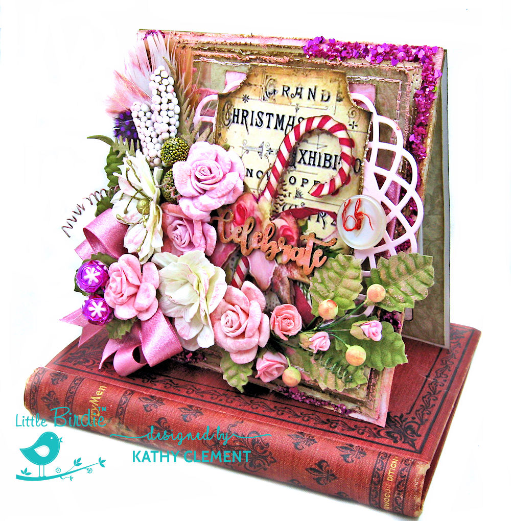 Pretty in Pink Christmas Card by Kathy Clement for Little Birdie Crafts Photo 02