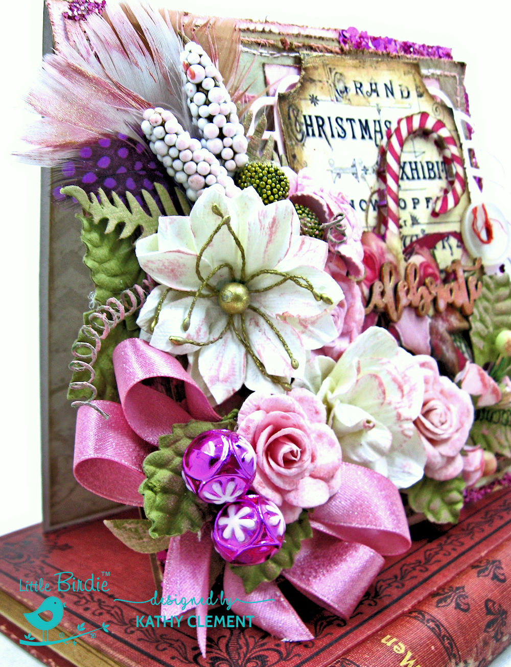 Pretty in Pink Christmas Card by Kathy Clement for Little Birdie Crafts Photo 04