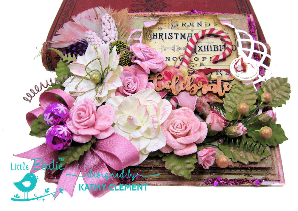 Pretty in Pink Christmas Card by Kathy Clement for Little Birdie Crafts Photo 05